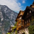 Beautiful Alpine houses in Austria — Stock Photo