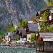 beautiful summer alpine hallstatt town — Stock Photo