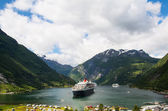 View of Geiranger fjord, Norway — Stock Photo