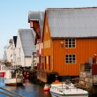 View of scandinavian fishing village, Bud, Norway — Stock Photo