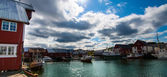 View of scandinavian fishing village,  Bud, Norway — Foto de Stock