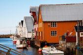вид скандинавского рыбацкая деревня, бутон, норвегия — Стоковое фото
