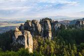 Sandstone rocks in Bohemian Paradise — Stock Photo
