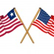 America and Liberia alliance and friendship — Stock Photo