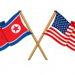 America and North Korea alliance and friendship — 图库照片