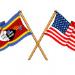 America and Swaziland alliance and friendship - Stockfoto