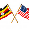 America and Uganda alliance and friendship — Stock Photo