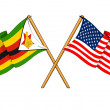 America and Zimbabwe alliance and friendship — Stock Photo