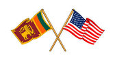 America and Sri Lanka alliance and friendship — Stock Photo