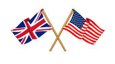 America and United Kingdom alliance and friendship — Stock Photo