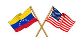 America and Venezuela alliance and friendship — Stock Photo