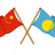 China and Palau alliance and friendship — Stock Photo