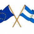 EuropeUnion and Nicaragualliance and friendship — Stock Photo #14244691