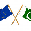 European Union and Pakistan alliance and friendship - Stock Photo