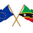 EuropeUnion and Saint Kitts and Nevis alliance and friendship — Stock Photo #14244997