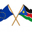 European Union and South Sudan alliance and friendship — Stock Photo