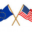 European Union and United States alliance and friendship — Stock Photo #14245653