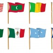 Hand-drawn Flags of the World - letter M — Stock Photo