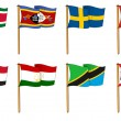 Hand-drawn Flags of World - letter S & T — Stock Photo #14735447
