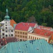 The view from the top of the castle Loket in the Czech Republic — Stock Photo
