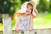 Portrait of a happy little girl outdoor — Foto Stock