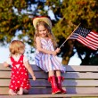 Little girls celebrating 4th july — Foto de Stock