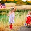 Little waving American flag — Foto de Stock