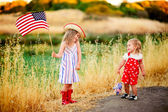 Little waving American flag — Stock Photo