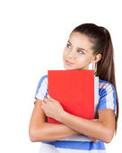Positive student girl — Stock Photo