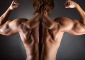 Muscular male back — Stock Photo