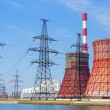 Thermal power station and power line — Stock Photo #21767075
