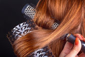 Hair and comb — Stock Photo