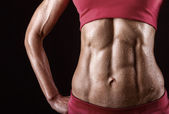 Abdominal muscles — Stock Photo