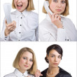 Foto Stock: Two business women