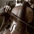 ������, ������: Playing the cello