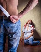 Domestic violence — Stockfoto