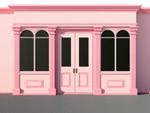 Stilvolle shops - classic-ladenzeile — Stockfoto