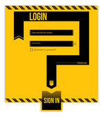 Login form concept — Stock Vector