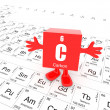 Carbon on periodic table — Foto de Stock