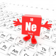 Neon on periodic table — Foto de Stock