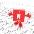 Nitrogen on periodic table — Lizenzfreies Foto