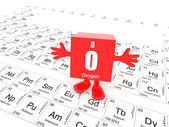 Oxygen on periodic table — Stock Photo