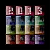 2013-kalendern — Stockvektor