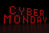 Cyber Monday dark background — Stock Photo