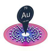 átomo de oro — Foto de Stock