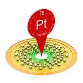 Platina atom — Stockfoto