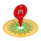Platinové atom — Stock fotografie