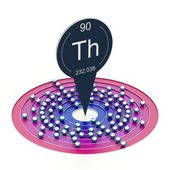 Thorium atom — Stock Photo
