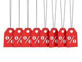 Percent labels — Stock Photo