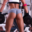Sexy beautiful ass at gym — Stok Fotoğraf #28574861